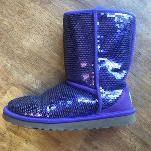 UGG Purple Sequin Boots 3161